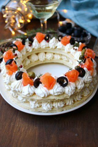 Cream tart salata al salmone
