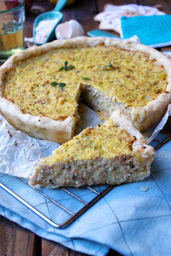 Torta salata con tonno e patate