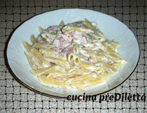 Pasta al mascarpone e pancetta
