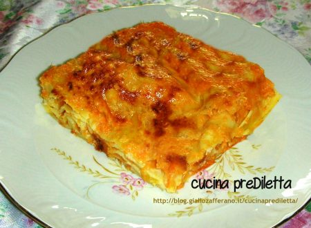 Lasagne con la zucca, ricetta vegetariana