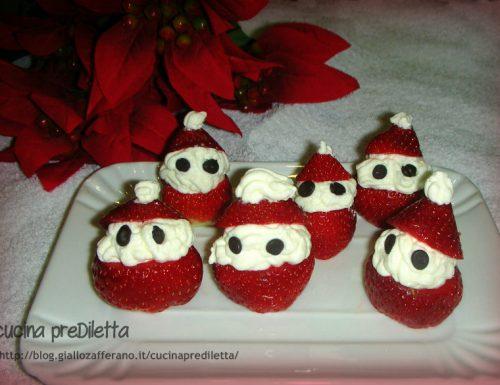 Fragole e panna Babbo Natale