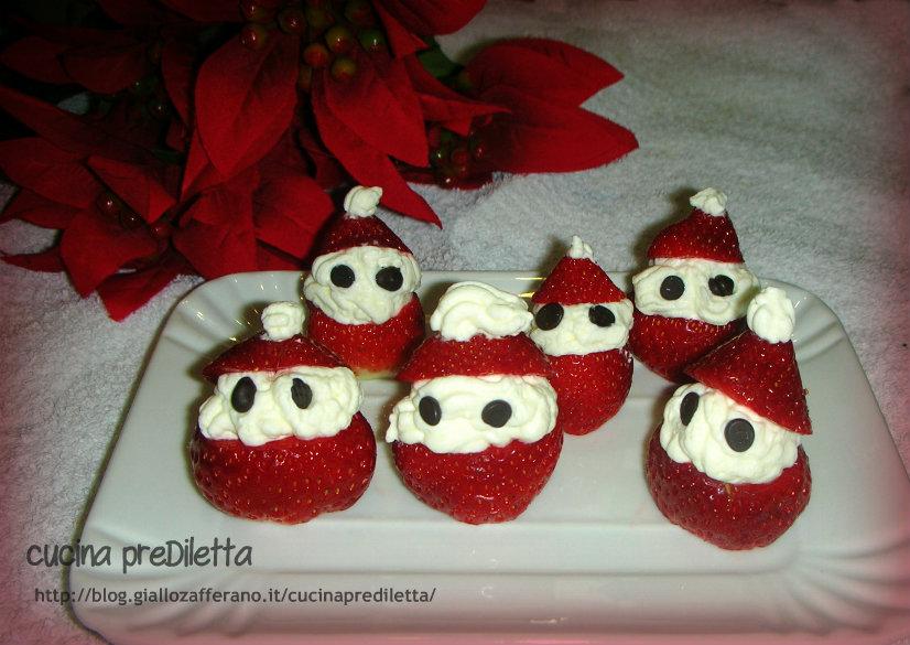 Antipasti A Forma Di Babbo Natale.Fragole E Panna Babbo Natale Ricetta Cucina Prediletta