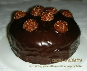 torta Ferrero Rocher,ricetta,cucina preDiletta