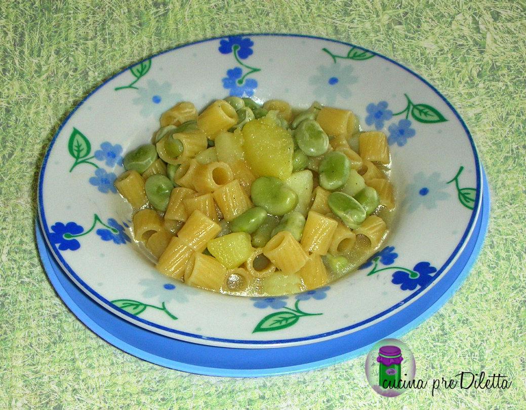 Pasta con fave fresche e patate, ricetta facile - cucina ... Ditali Pasta