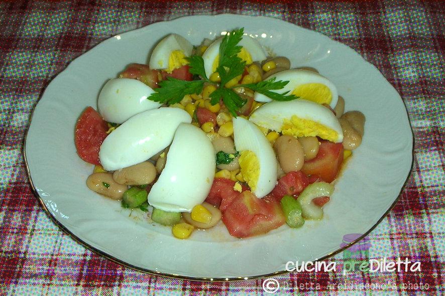 Fabuleux Uova sode e fagioli, ricetta insalata estiva - cucina preDiletta II11