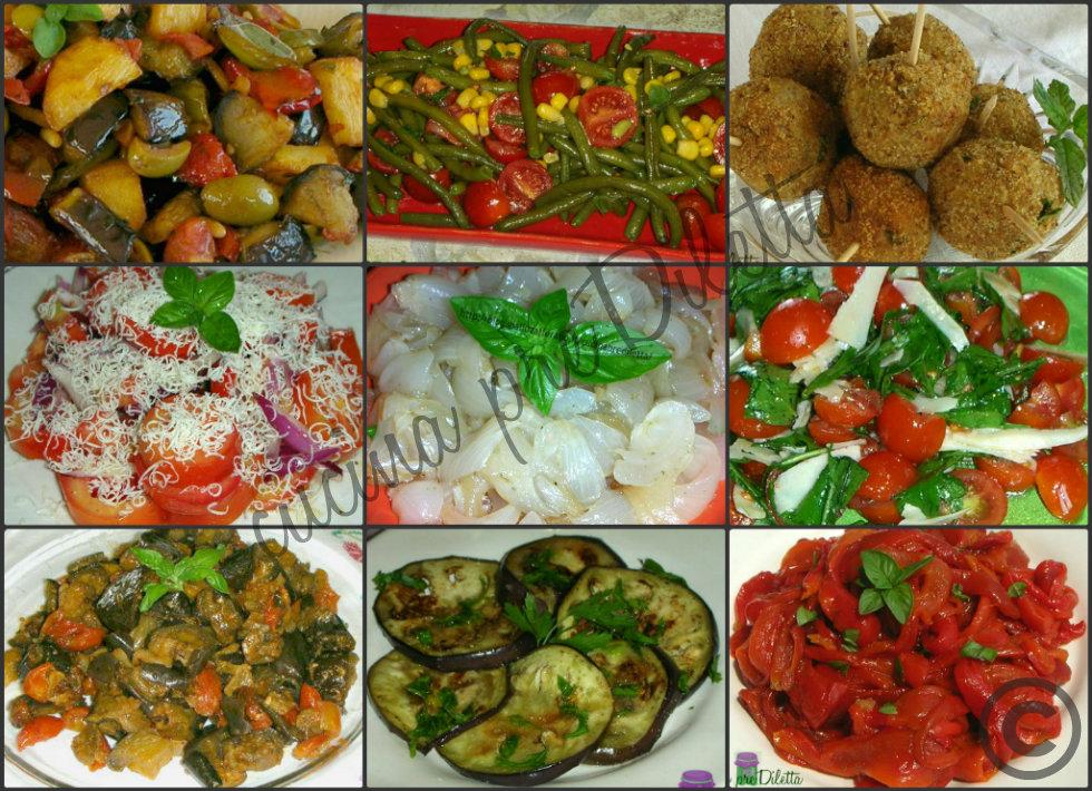abbastanza Antipasti e contorni freddi, ricette buffet - cucina preDiletta CR75