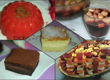Buffet estivo – ricette dolci, frutta e bevanda