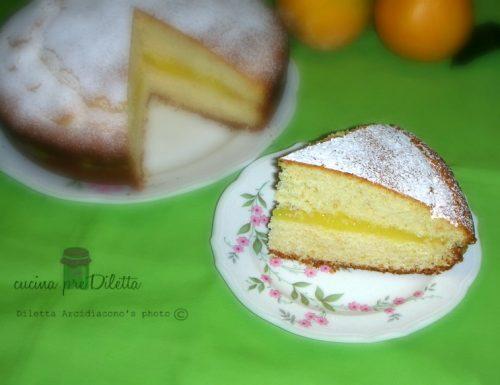 Torta con crema di arance