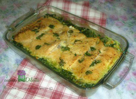 Filetti di merluzzo gratinati con spinaci