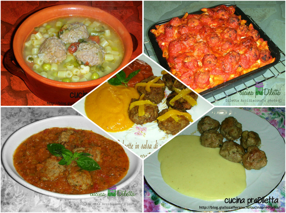 Polpette di carne 5 ricette di primi e secondi piatti for Ricette primi piatti di carne