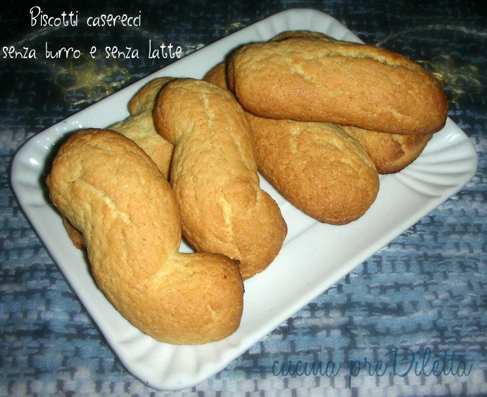 Ricetta biscotti senza burro ne olio