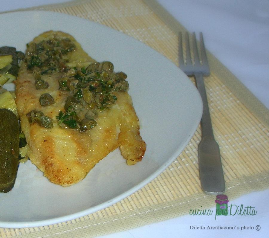 Filetti di pesce con capperi, ricetta