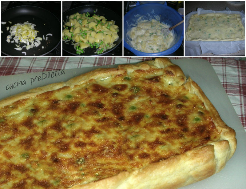 Torte salate con pasta sfoglia rettangolare
