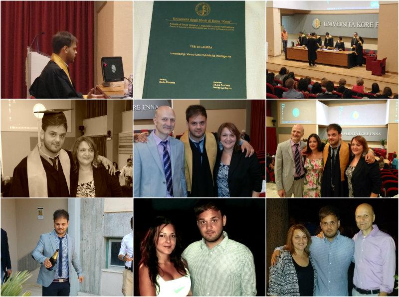 La laurea di mio figlio. Diletta Arcidiacono, Dario Platania