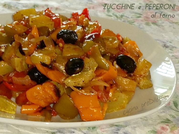 Zucchine e peperoni al forno ricetta cucina prediletta for Cucinare zucchine al forno