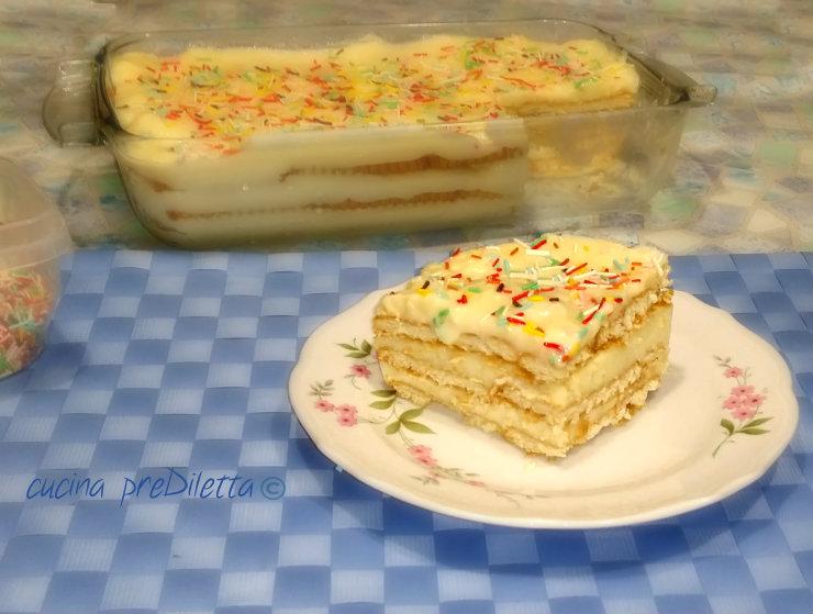 Connu Dolce con crema pasticcera e biscotti - ricetta | cucina preDiletta XJ12