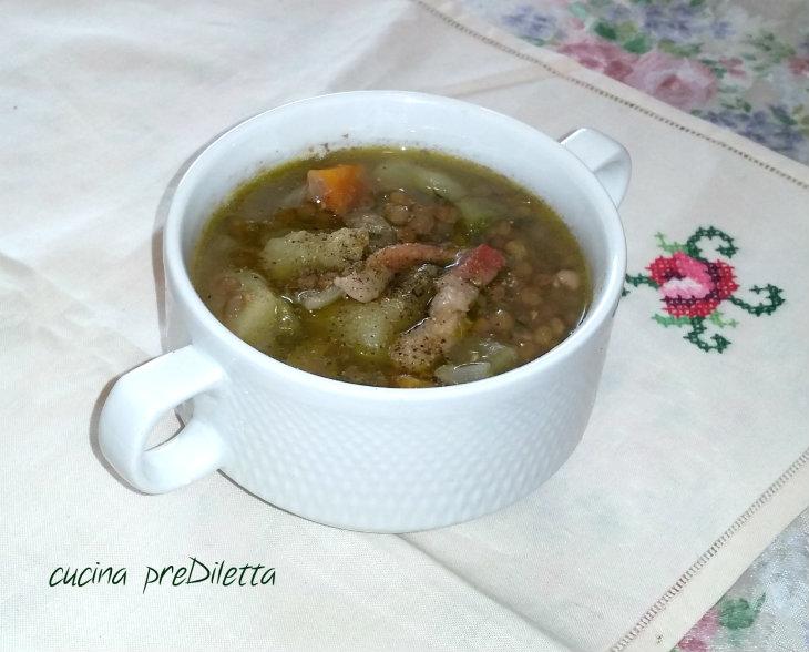 Zuppa di lenticchie e patate ricetta cucina prediletta - Lenticchie a bagno ...