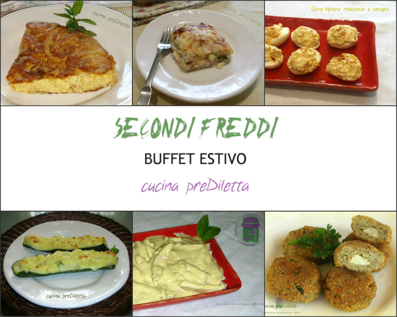 SECONDI FREDDI, buffet estivo