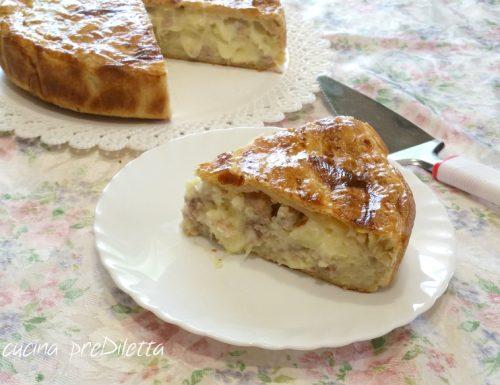 Torta salata patate e carne