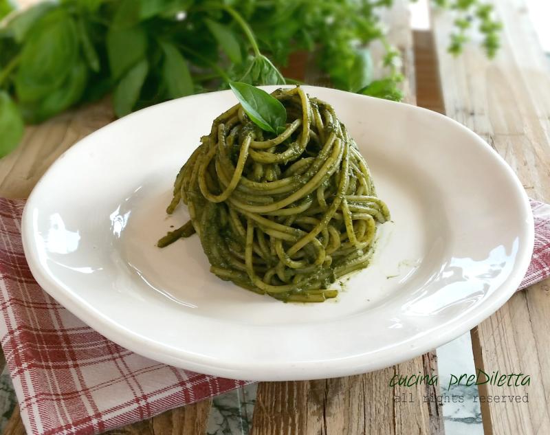 Spaghetti al basilico, ricetta, cucina preDiletta