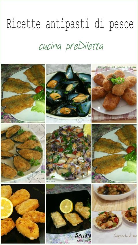 Antipasti di pesce ricette cucina prediletta for Ricette di cucina antipasti