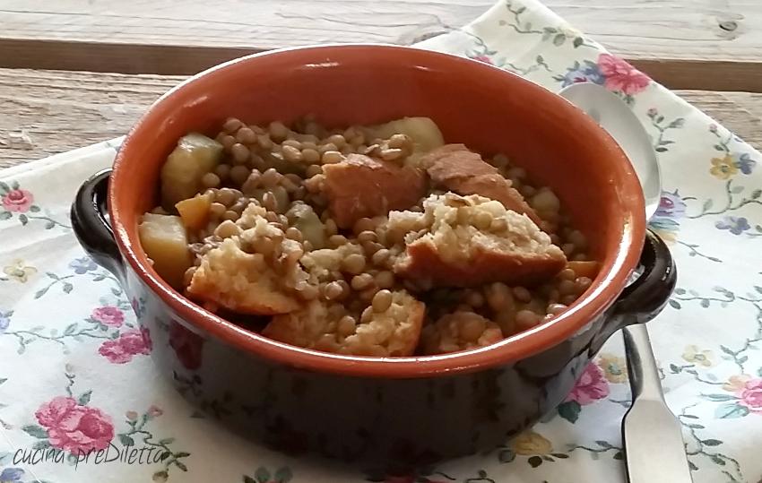 Pancotto con lenticchie