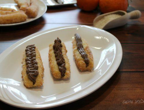 Zeppole di riso con crema alla Nutella