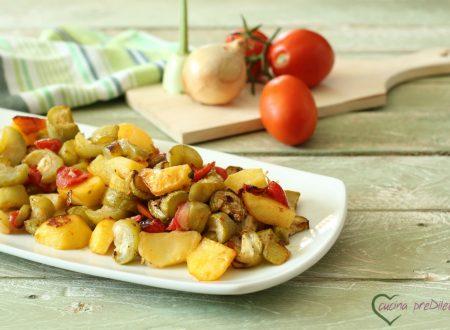 Zucchina lunga con patate al forno