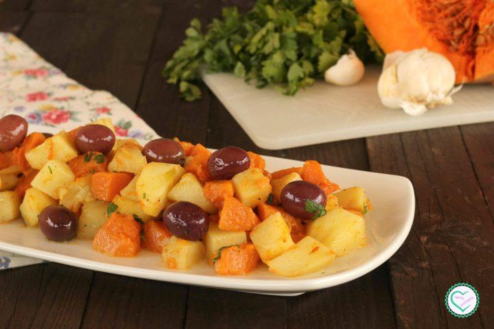 Zucca e patate con olive