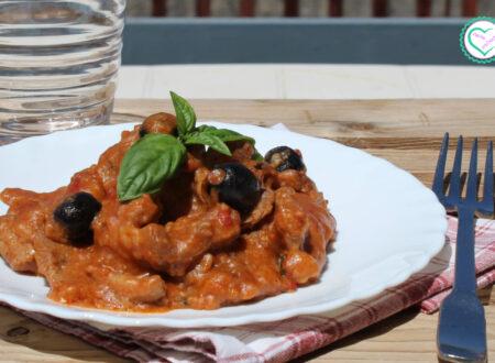 Straccetti di carne con olive