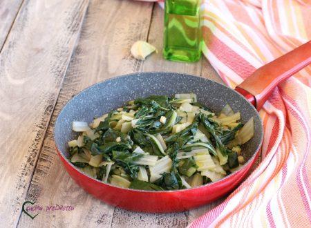 Bietole saltate in padella con aglio e olio