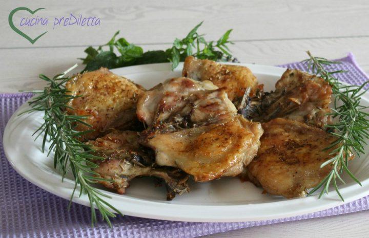 Pollo al forno croccante