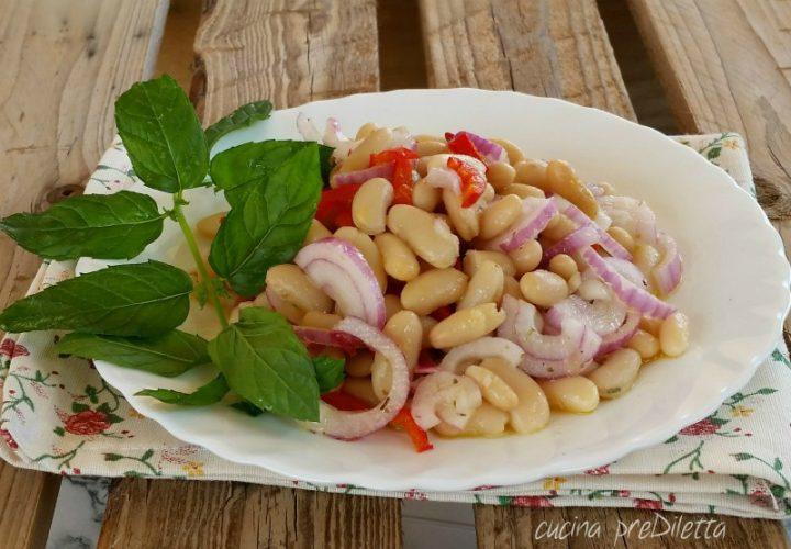 Cannellini e cipolla in insalata