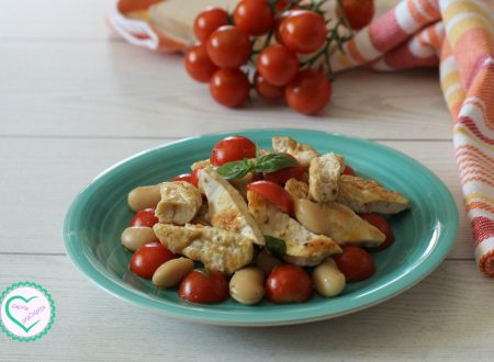 Insalata di pollo e fagioli