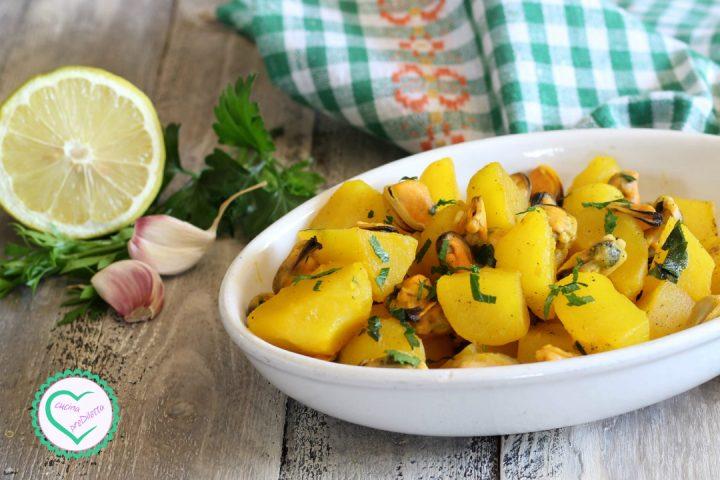 Cozze e patate allo zafferano