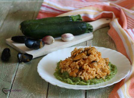 Risotto con cozze e zucchine