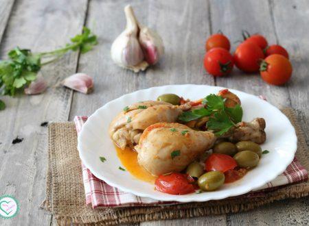 Pollo con olive e pomodorini