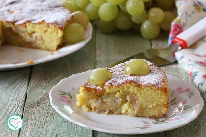 Torta dolce di patate e uva