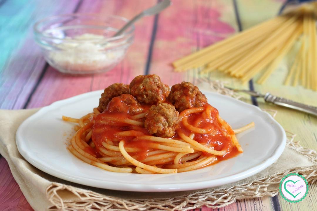 Spaghetti con polpettine