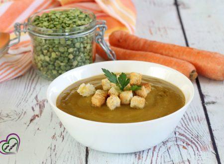 Zuppa di piselli e carote