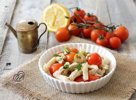 Insalata di trippa con pomodorini e olive