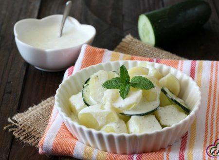 Insalata di patate e cetrioli allo yogurt