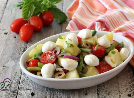Patate, fagiolini e mozzarella (insalatona estiva)