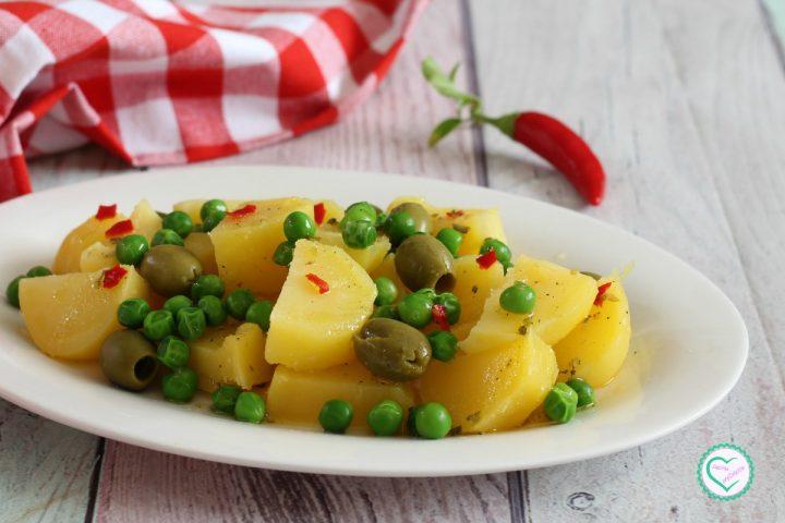 Patate piselli e olive