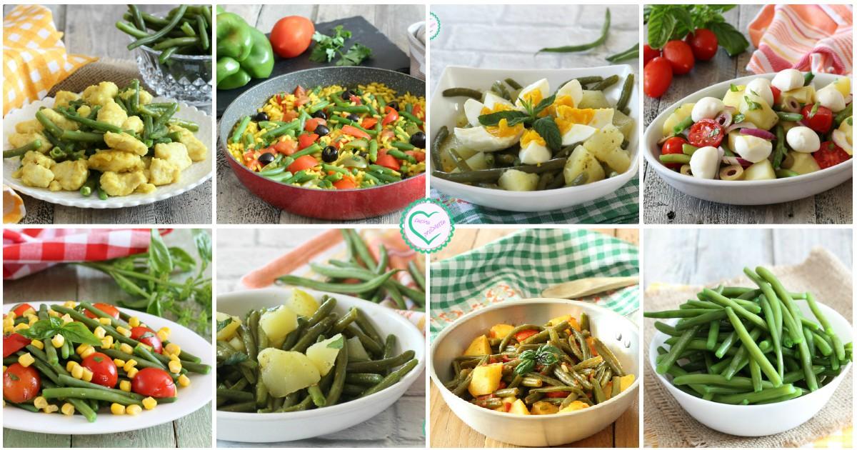 Ricette con fagiolini primi secondi e contorni cucina for Cucinare fagiolini