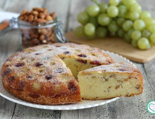 Torta uva e mandorle senza burro