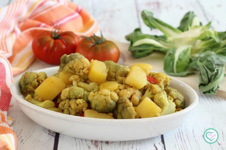 Cavolfiore con patate al curry
