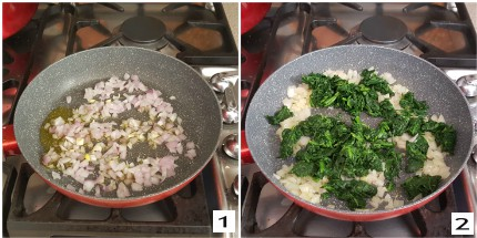 Involtini con spinaci e prosciutto, preparazione 1