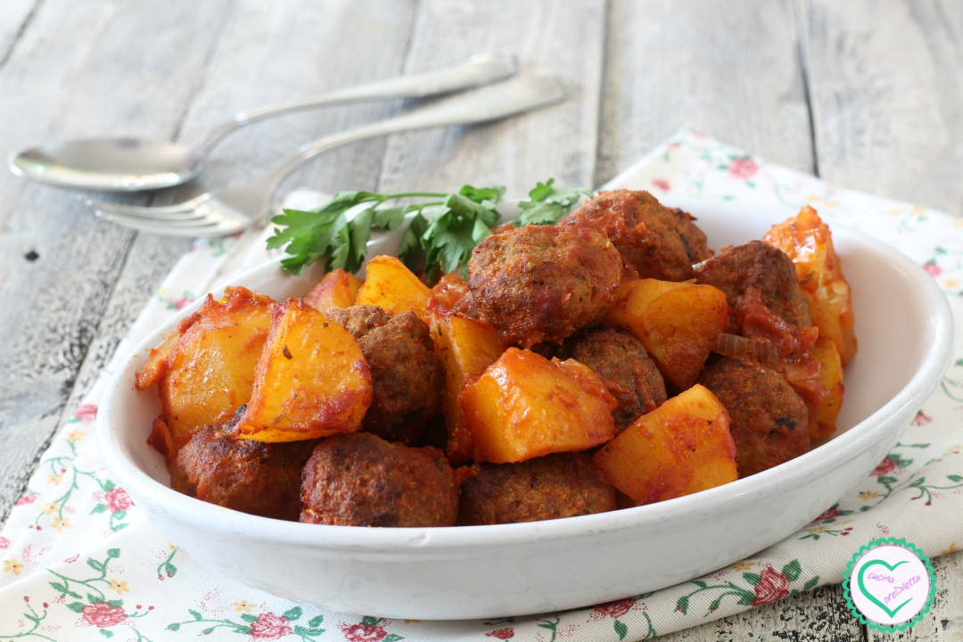 Polpette al forno con patate