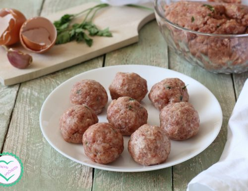 Polpette di carne, ricetta di base